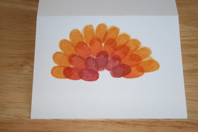 Fingerprint Turkey Cards - Front Step 2