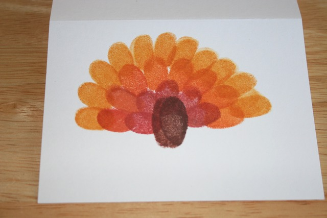 Fingerprint Turkey Cards - Front Step3