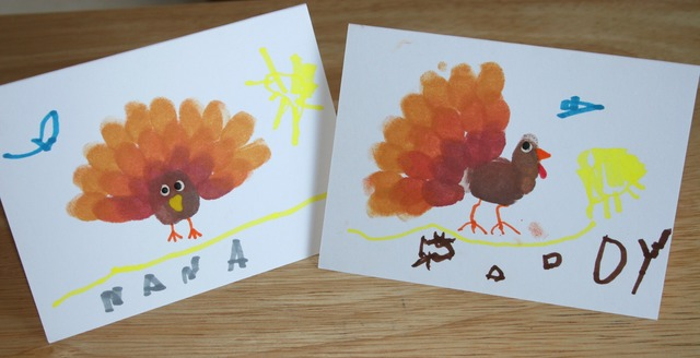 Fingerprint Turkey Cards