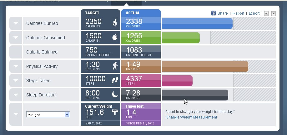 BodyMedia FIT Dashboard